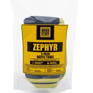 WORK STUFF Zephyr Waffle 3 Pack - 3 x Mikrofibra do Szyb